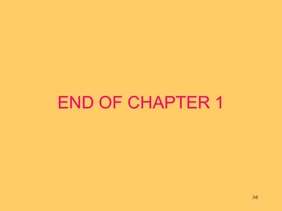 36 END OF CHAPTER 1