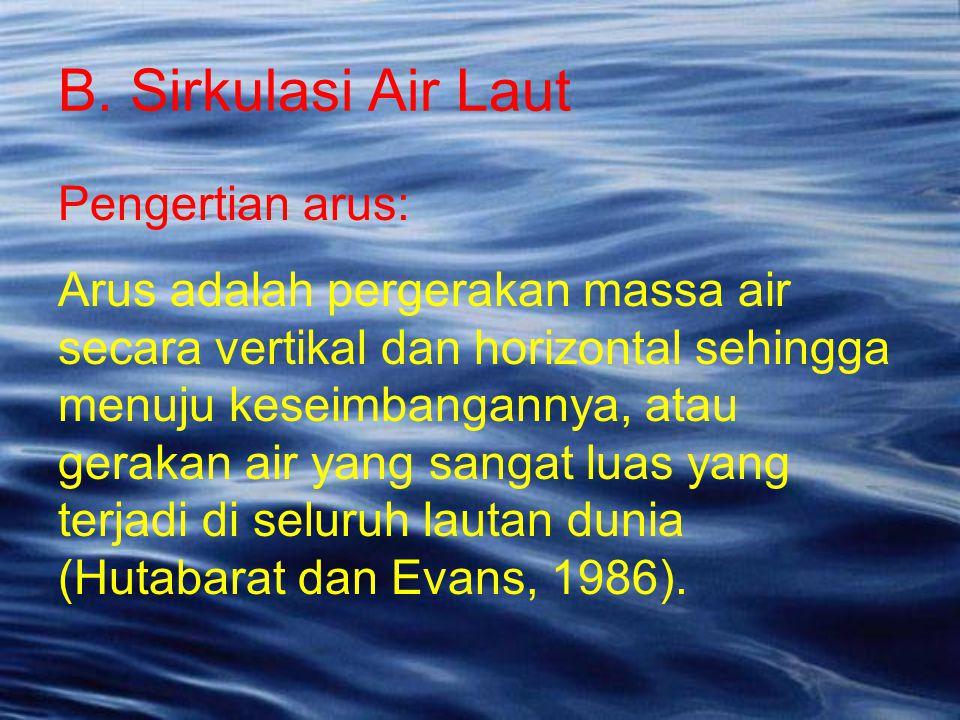 Pengertian arus: Arus adalah pergerakan massa air secara vertikal dan horizontal sehingga menuju keseimbangannya, atau gerakan air yang sangat luas ya