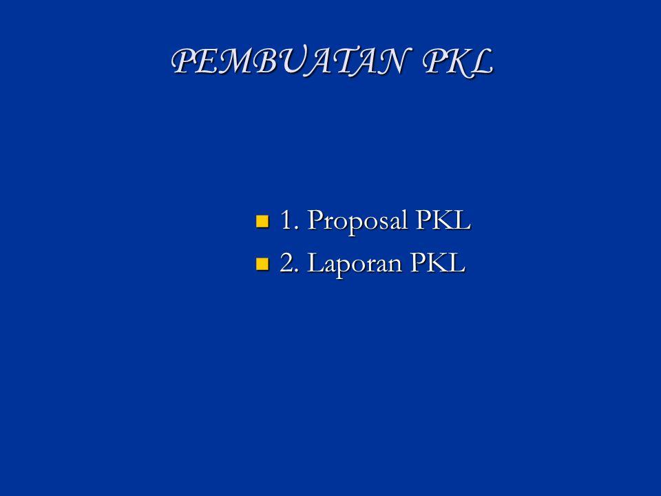 Pengertian PKL : Magang Kerja Magang Kerja Praktek kerja Praktek kerja Ikut Kegiatan Perbengkelan/Studio Ikut Kegiatan Perbengkelan/Studio