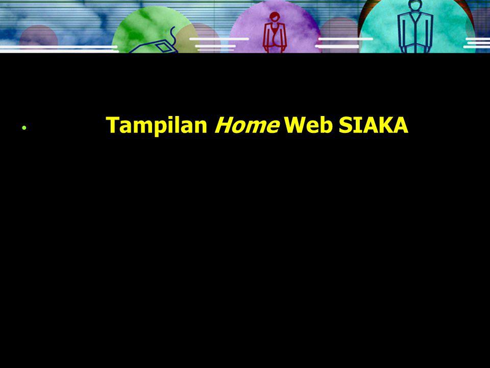 Tampilan Home Web SIAKA