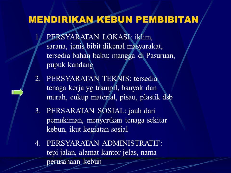 KOMPONEN KEBUN BIBIT 1.Kantor: pimpinan, staf administrasi, staf teknis, kamar kecil 2.