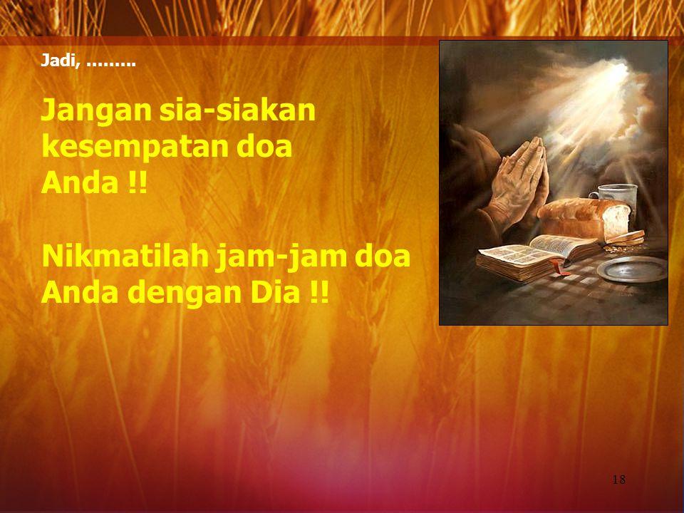 Hubungan persekutuan dengan Allah di dalam nama Tuhan Yesus Kristus.