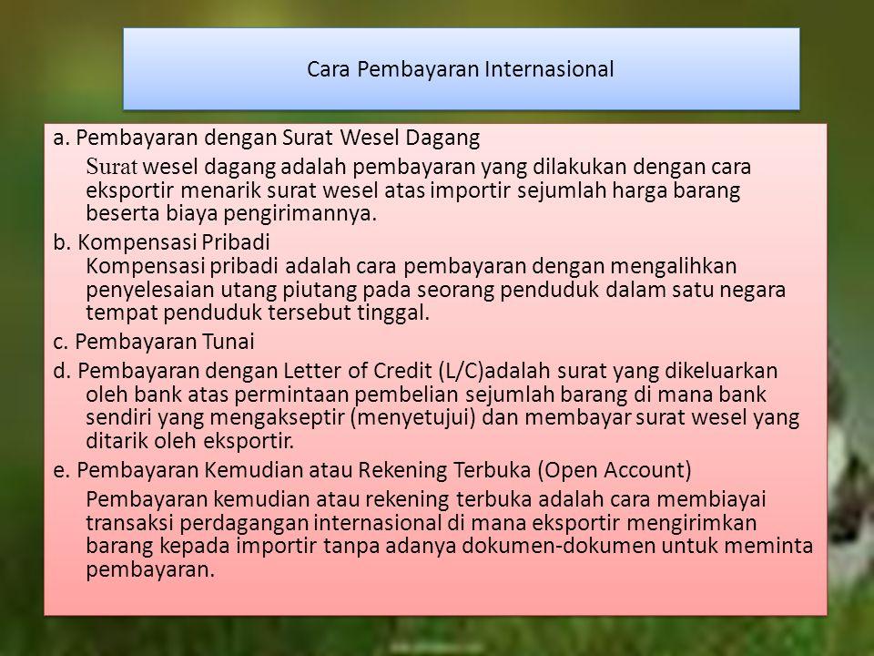 Cara Pembayaran Internasional a.