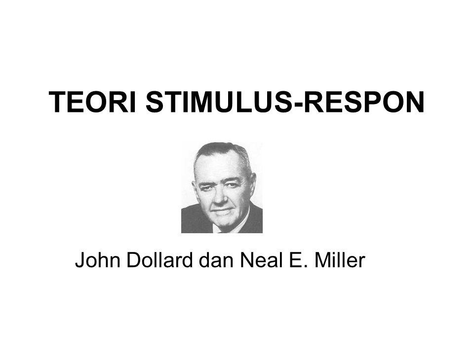 TEORI STIMULUS-RESPON John Dollard dan Neal E. Miller
