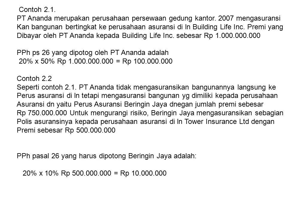 Contoh 2.1. PT Ananda merupakan perusahaan persewaan gedung kantor.