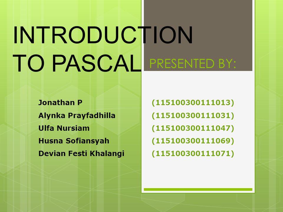Pascal merupakan bahasa pemrograman serba-guna, yang dapat digunakan untuk bermacam-macam tujuan, misalnya program-program untuk database, keuangan, permainan, ataupun pendidikan.