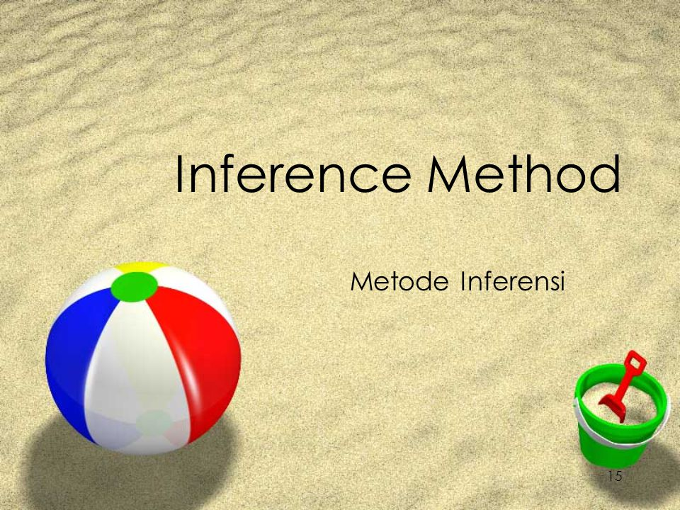 15 Inference Method Metode Inferensi