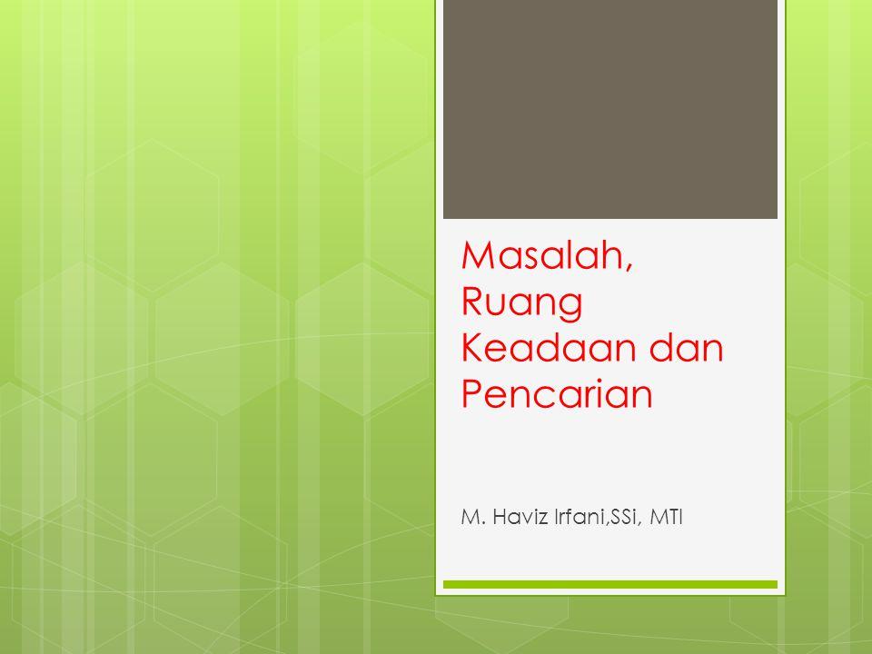 Masalah, Ruang Keadaan dan Pencarian M. Haviz Irfani,SSi, MTI