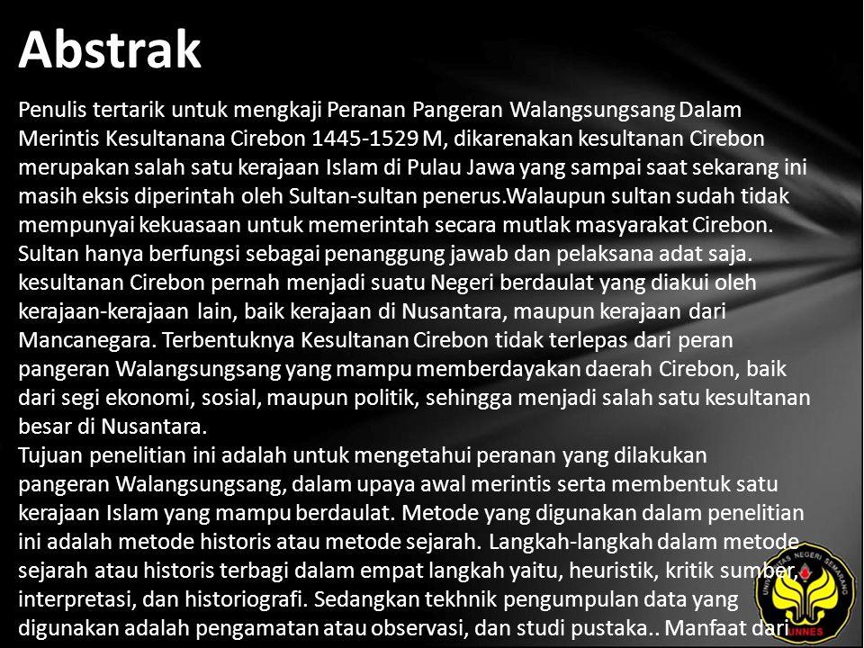 Kata Kunci Peranan Pangeran Walangsungsang, Sejarah Cirebon.