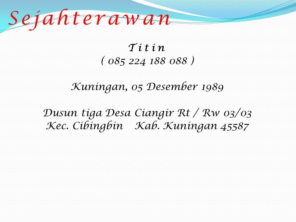 Ira Gita Wulandari ( 085 793 441 838 ) Tasikmalaya, 08 April 1991 Jl.