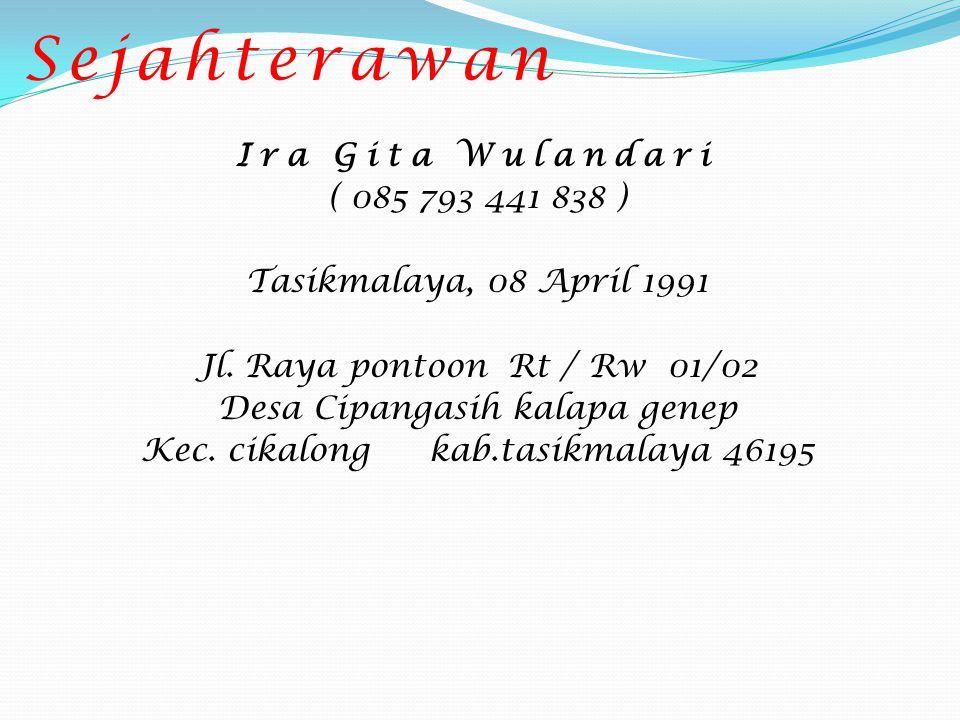 Dini Kinanti Putri Siska ( 081 804 633 351 ) Cirebon, 30 November 1991 Jl.