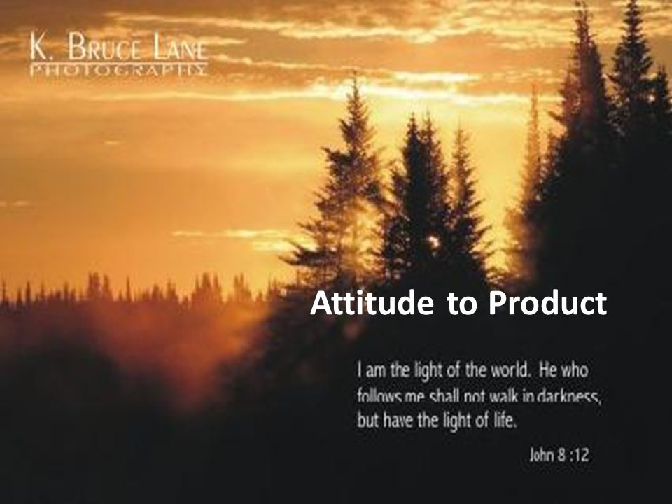 Attitude to Product