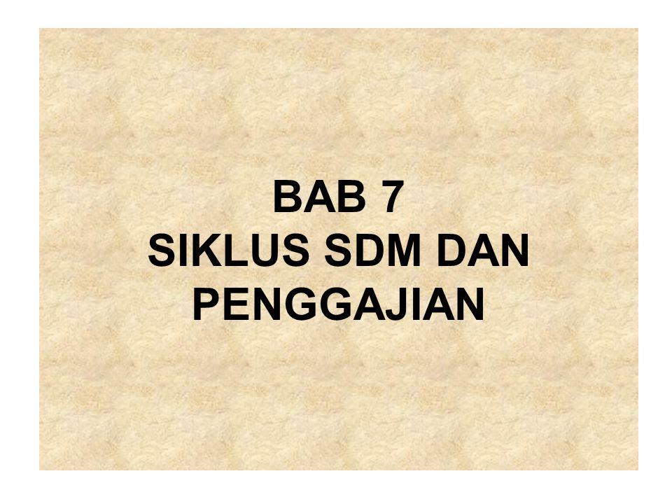 BAB 7 SIKLUS SDM DAN PENGGAJIAN