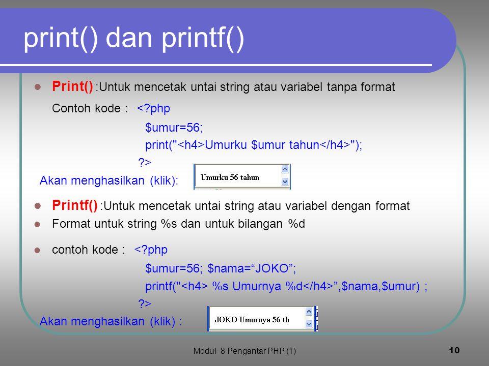 Modul- 8 Pengantar PHP (1)9 5.