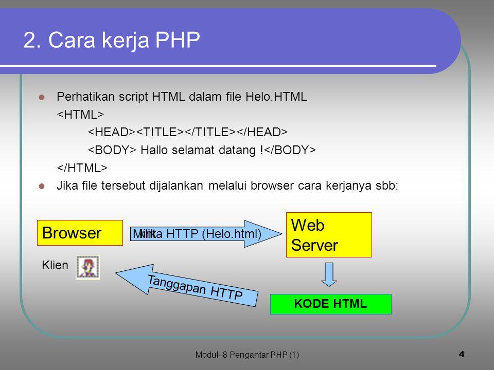 Modul- 8 Pengantar PHP (1)3 1.