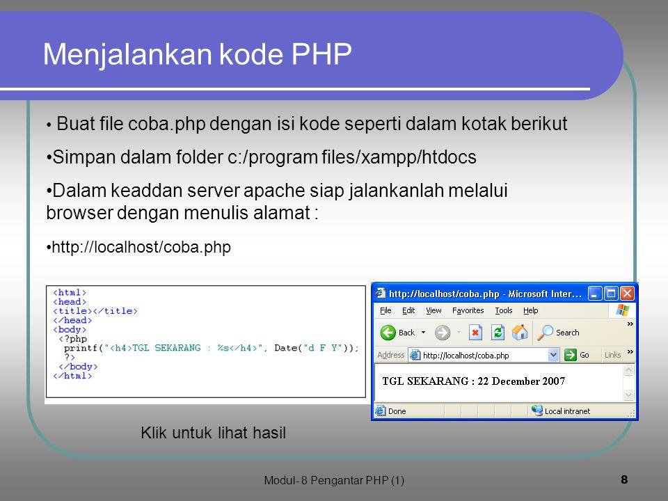 Modul- 8 Pengantar PHP (1)7 4.
