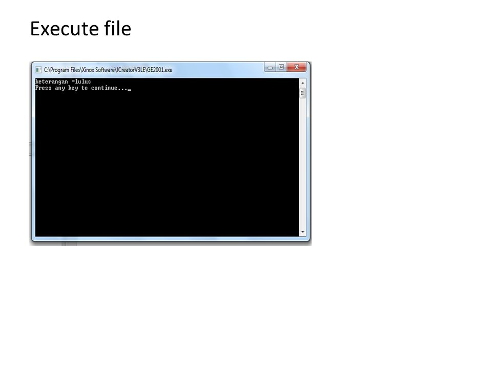 SOAL I: (IF) Buat Program dengan JCreator untuk mencetak tampilan sbb : – Jika power=1, maka komputer= menyala – Jika power=0, maka komputer= mati Buat Program dengan JCreator untuk mencetak tampilan sbb :