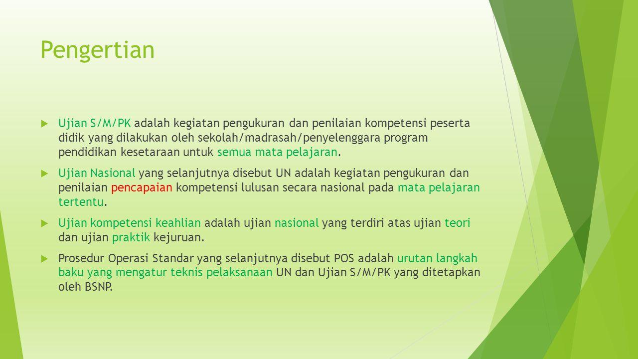 Jadwal UN 1.Senin,13 April 2015 Senin,20 April 2015 07.30 - 09.30 B.Indonesia 2.