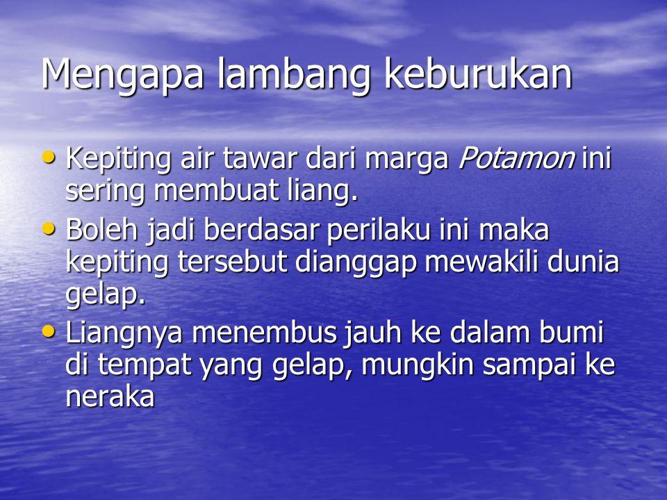 Kepiting dalam Cerita Rakyat  Di Indonesia khususnya Jawa adalah Ande-ande Lumut.
