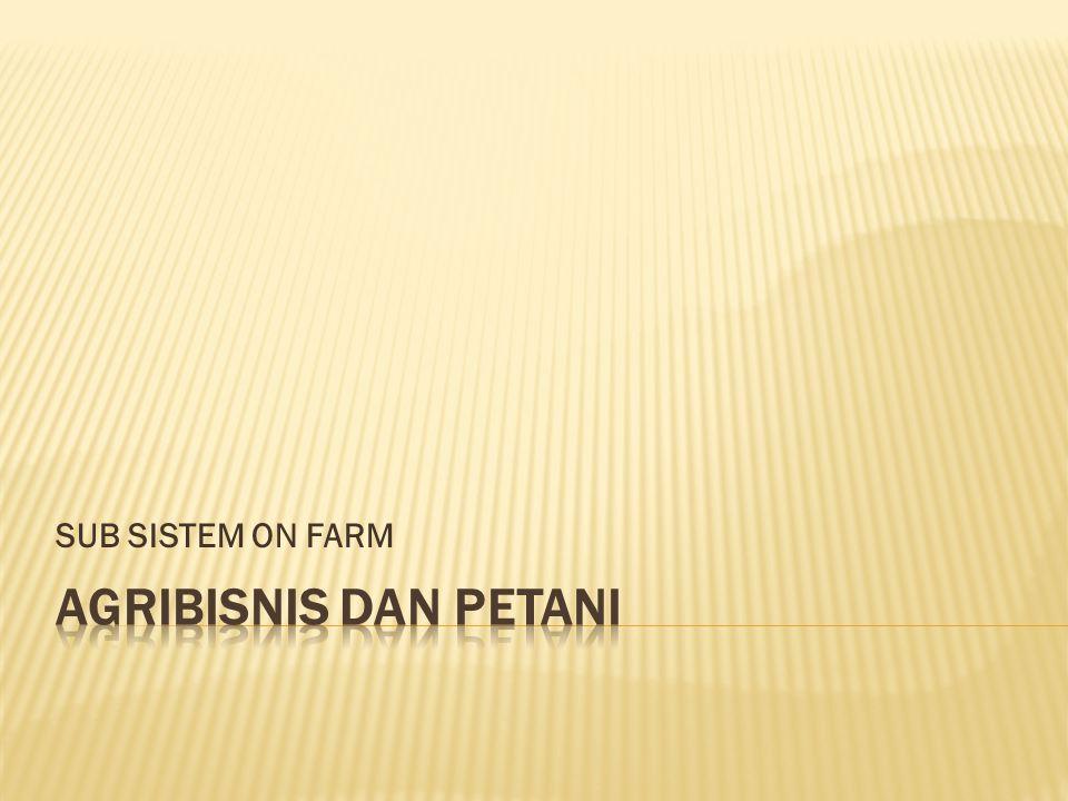 SUB SISTEM ON FARM