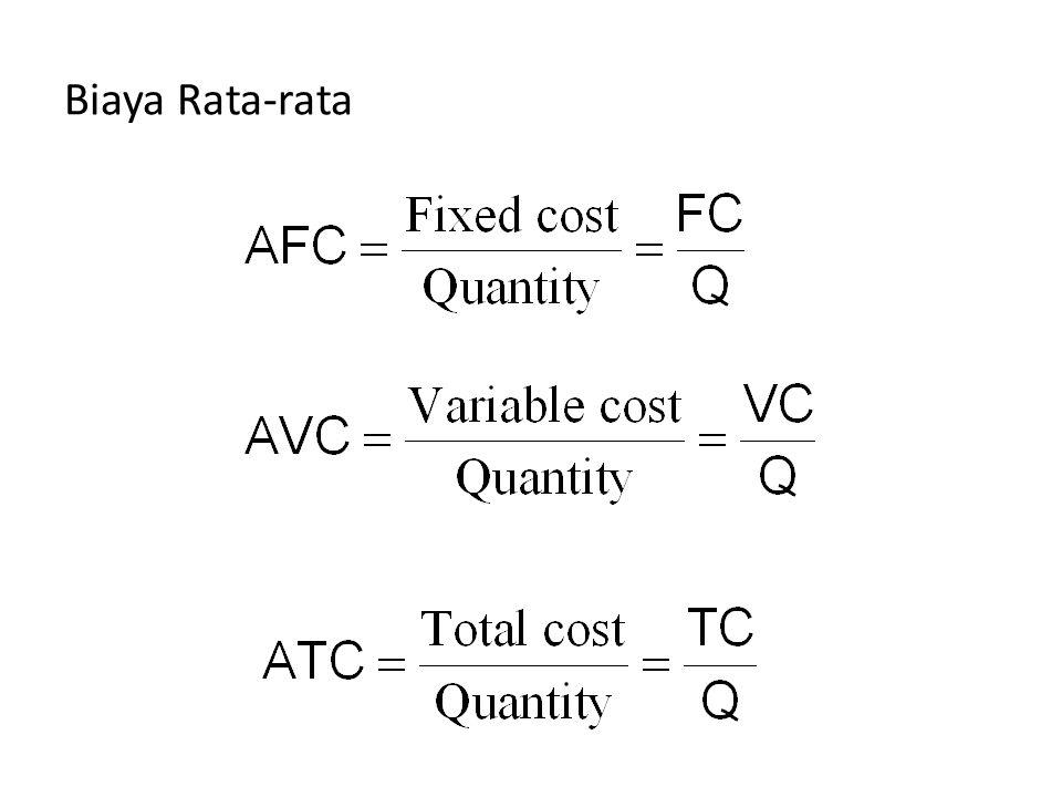 Biaya Rata-rata