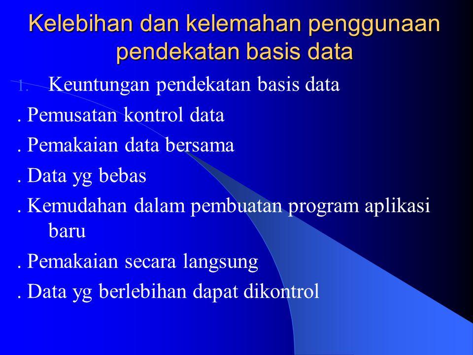 Basis Data Menurut Elmasri R. lebih dibatasi pada arti implisit yg khusus yaitu: 1. Basis data merupakan penyajian suatu aspek dari dunia nyata. Basis