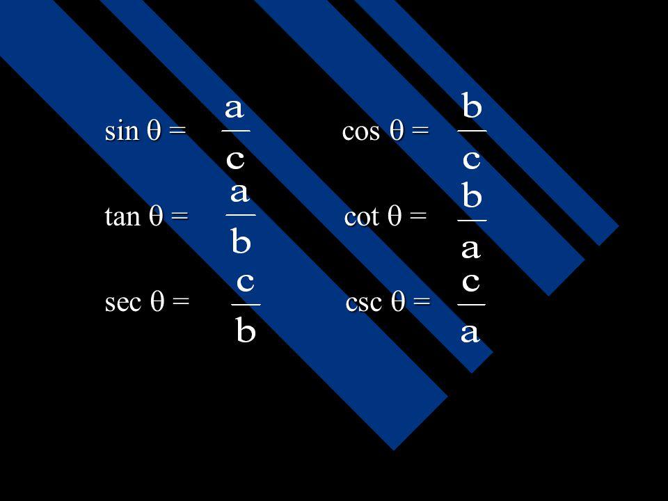 Fungsi trigonometri sudut lancip sisi-sisi siku-siku selalu terletak dihadapan sudut lancip. Sedangkan sisi miring selalu terletak dihadapan sudut sik