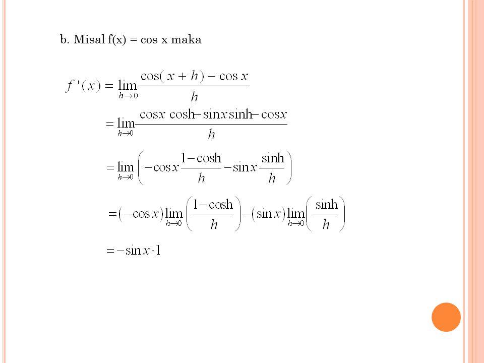 3 b. Misal f(x) = cos x maka