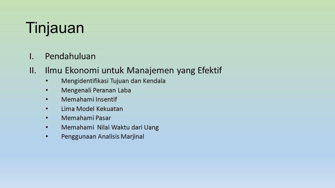 Ekonomi Manajerial Manajer Seseorang yang mengarahkan sumber daya untuk mencapai tujuan.