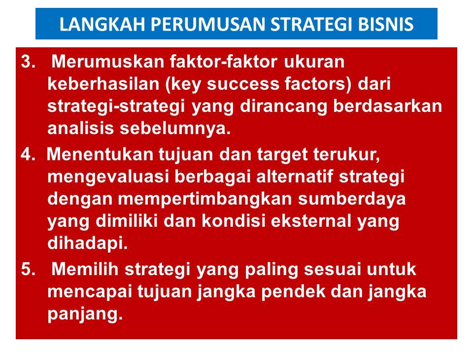 LANGKAH PERUMUSAN STRATEGI BISNIS 3.