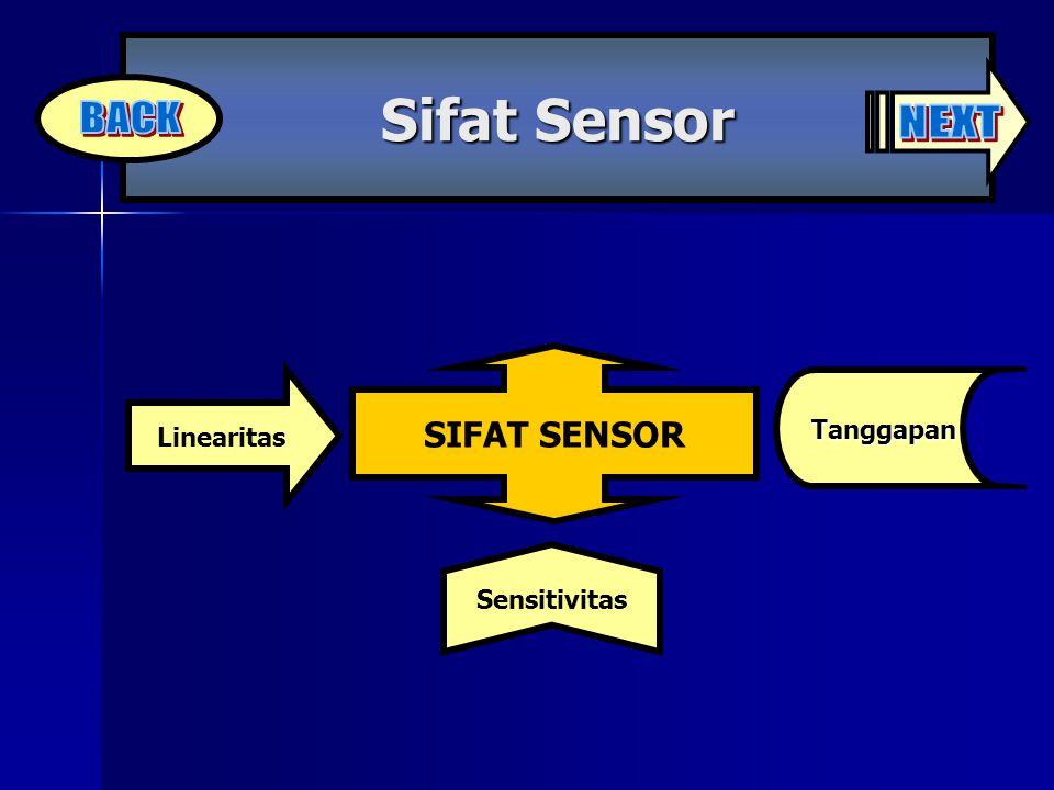SIFAT SENSOR Linearitas Sifat Sensor Tanggapan Sensitivitas