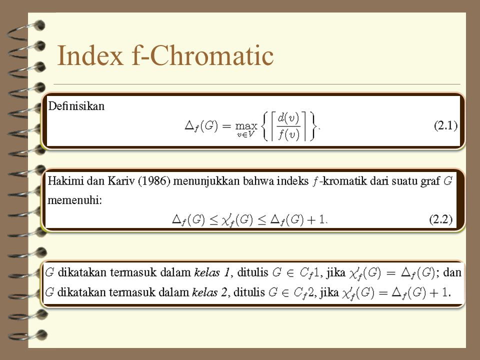 Index f-Chromatic