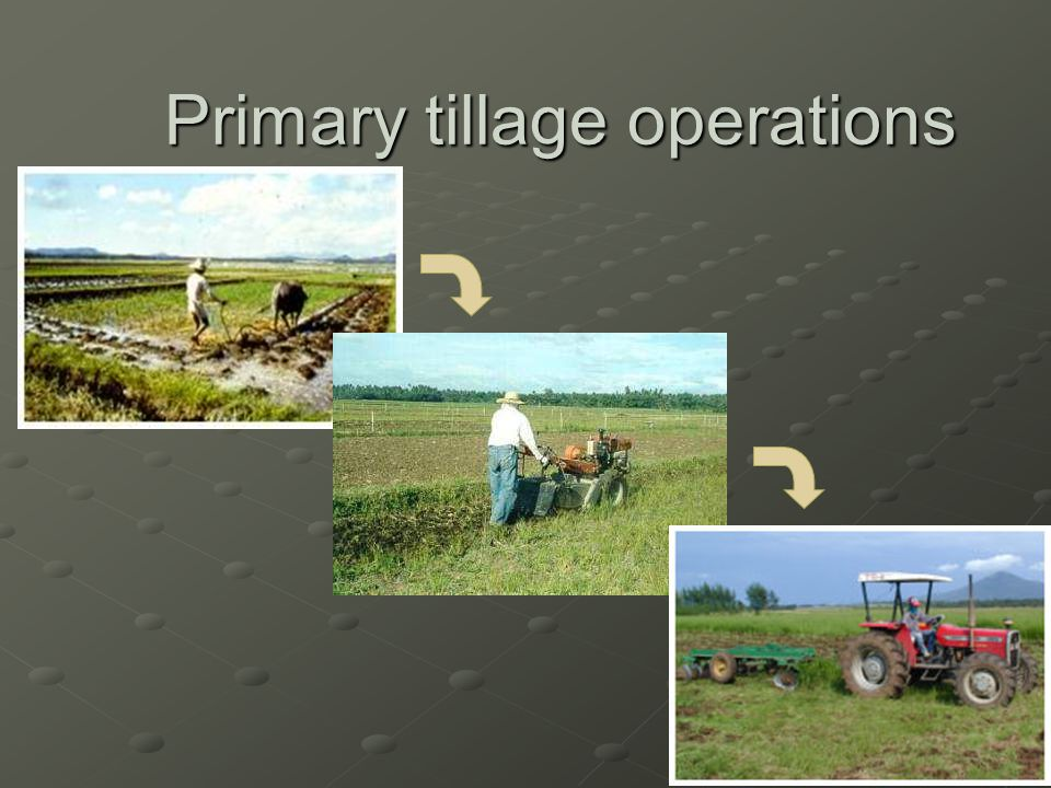 Primary tillage operations
