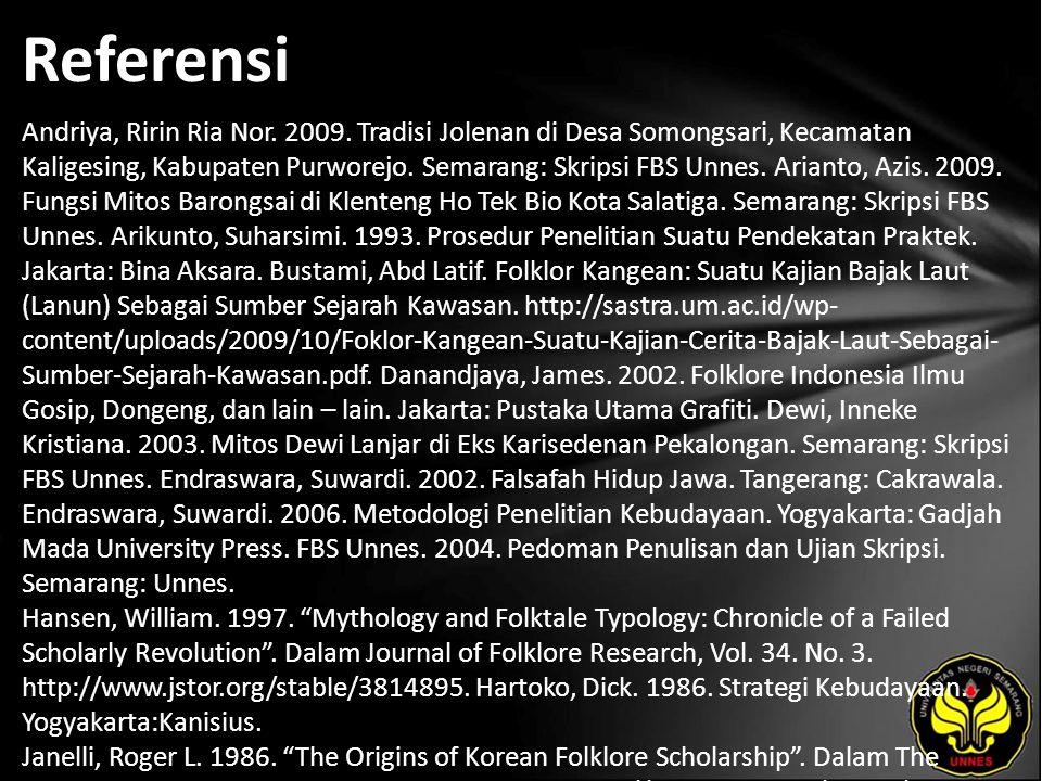 Referensi Andriya, Ririn Ria Nor. 2009.
