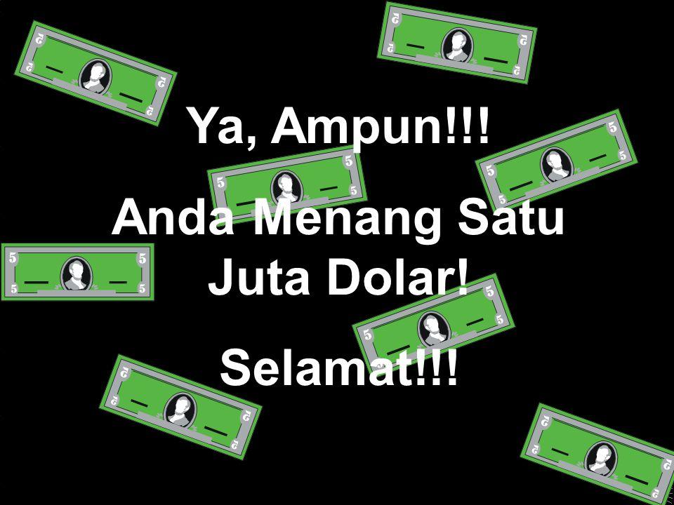 Ya, Ampun!!! Anda Menang Satu Juta Dolar! Selamat!!!