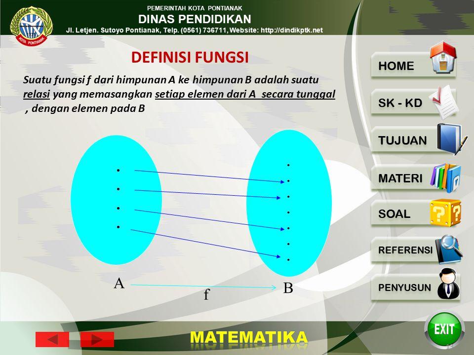 PEMERINTAH KOTA PONTIANAK DINAS PENDIDIKAN Jl. Letjen. Sutoyo Pontianak, Telp. (0561) 736711, Website: http://dindikptk.net 12 c. Diagram Cartesius X
