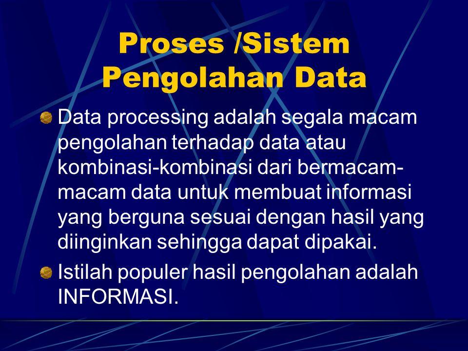 Output /Keluaran Output adalah hasil pengolahan komputer. Perangkat keluaran adalah alat yang menerima hasil pengolahan dari Central Processing Unit (