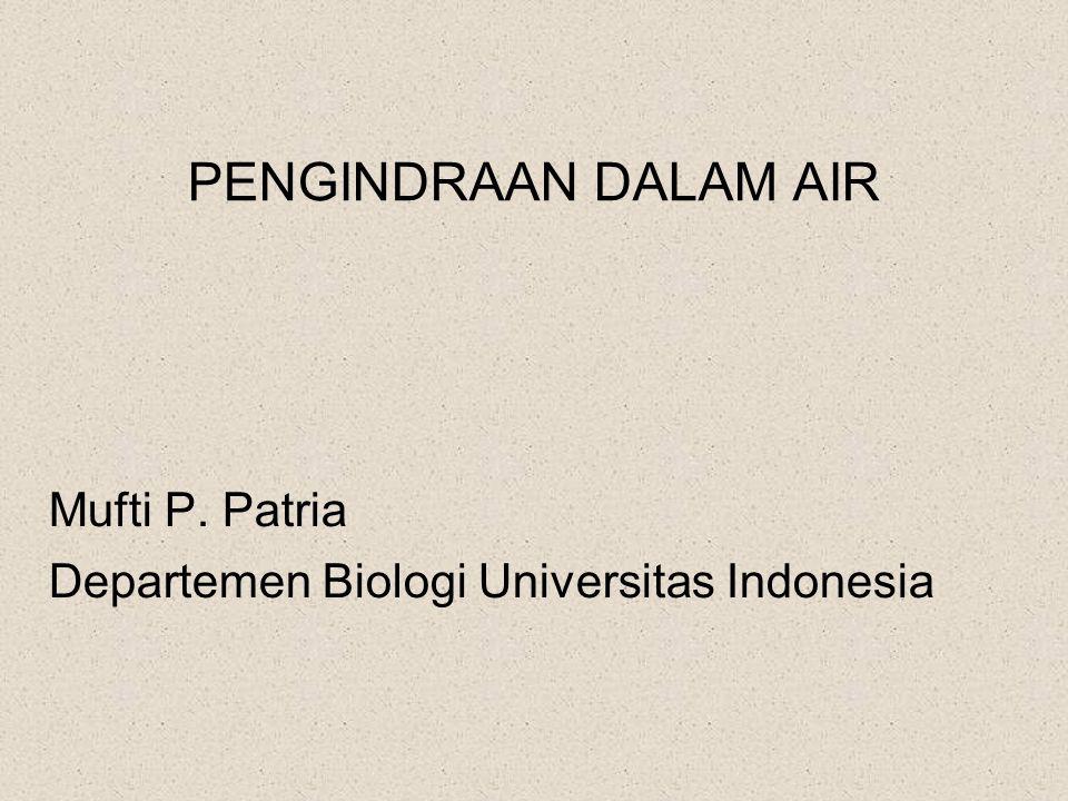 PENGINDRAAN DALAM AIR Mufti P. Patria Departemen Biologi Universitas Indonesia
