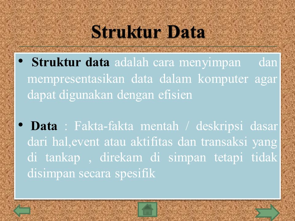  Tipe data tunggal : integer,real m bolean, dan karakter  Tipe data majemuk : string