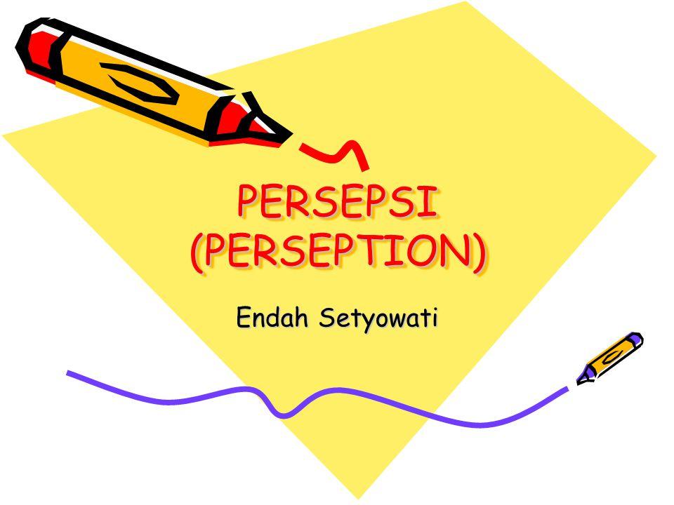 PERSEPSI (PERSEPTION) Endah Setyowati