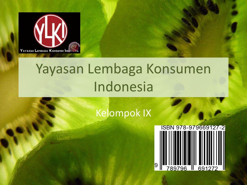 Yayasan Lembaga Konsumen Indonesia Kelompok IX