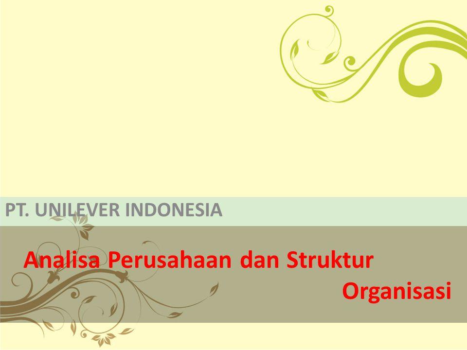 Analisa Perusahaan dan Struktur Organisasi PT. UNILEVER INDONESIA