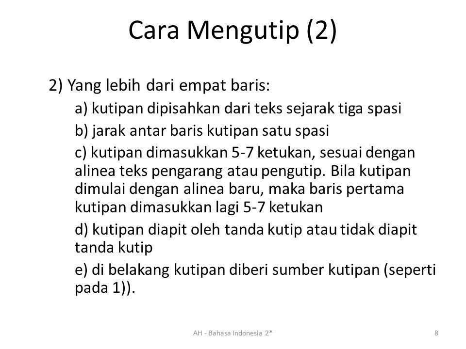 Cara Mengutip (3) b.