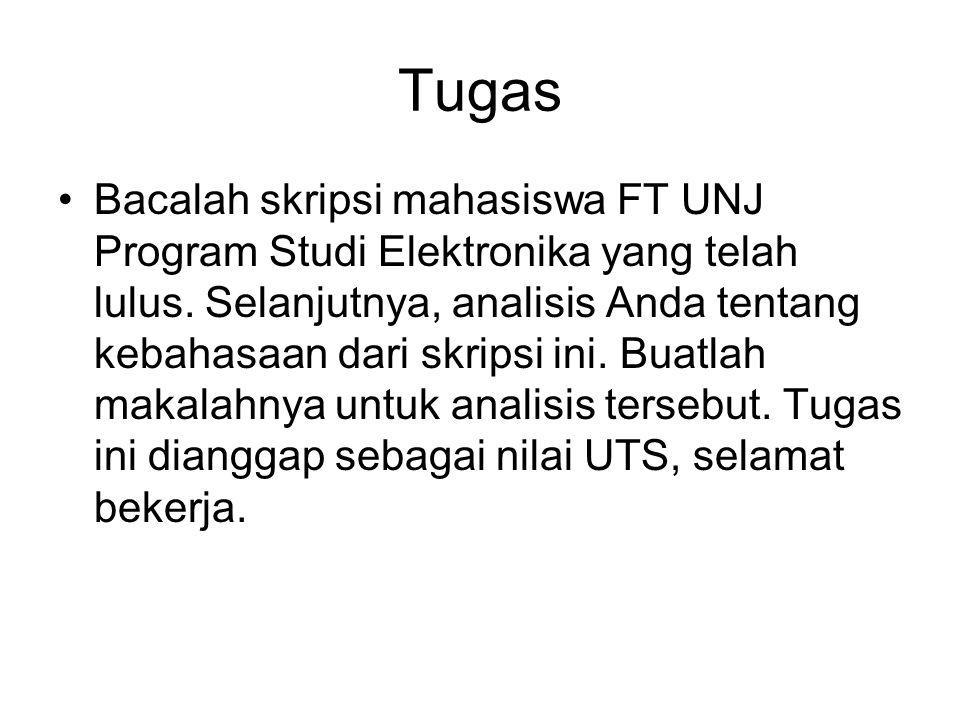 Tugas Bacalah skripsi mahasiswa FT UNJ Program Studi Elektronika yang telah lulus.
