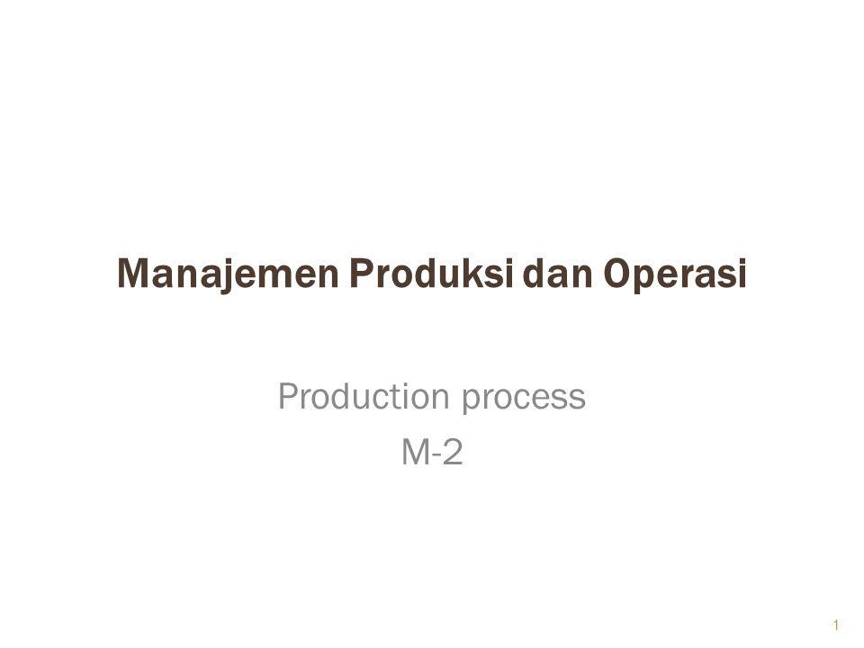  Proses produksi adalah merupakan suatu cara, metode, maupun teknik bagaimana penambahan manfaat atau penciptaan faedah baru, dilaksanakan dalam perusahaan 2