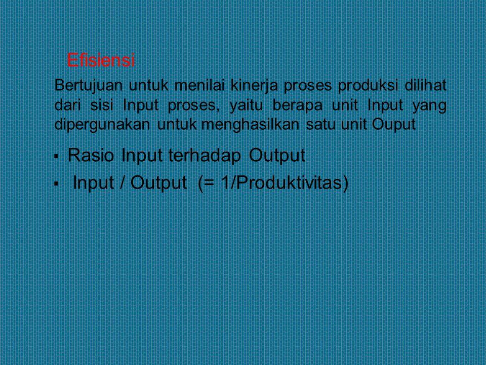 Ukuran kinerja yang menunjukkan hubungan antara tujuan ( target ) dengan Output yang direalisir.