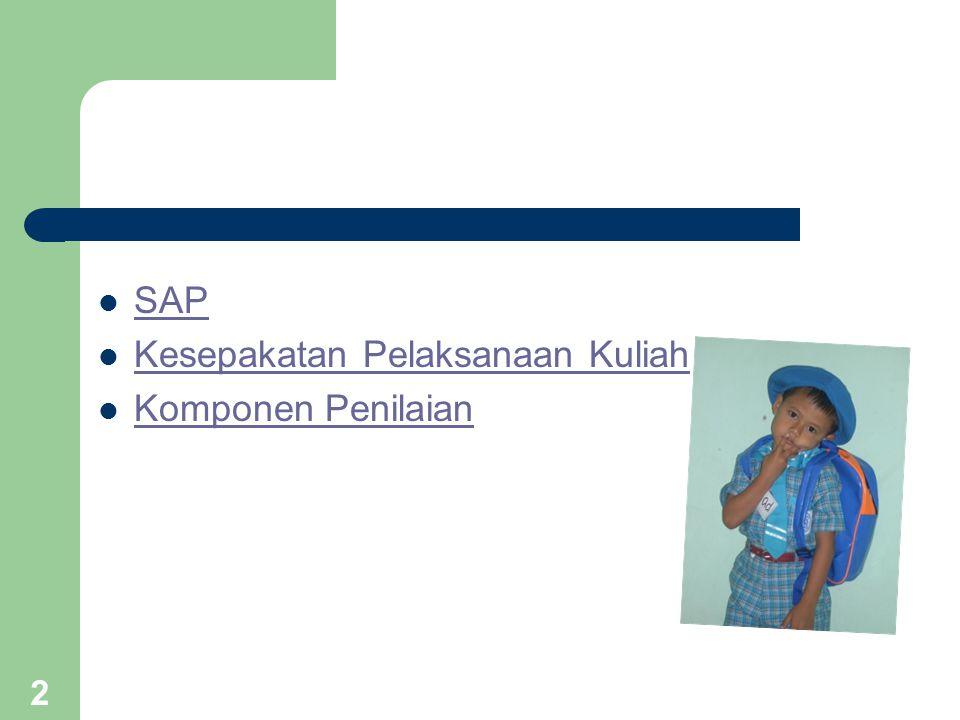 2 SAP Kesepakatan Pelaksanaan Kuliah Komponen Penilaian