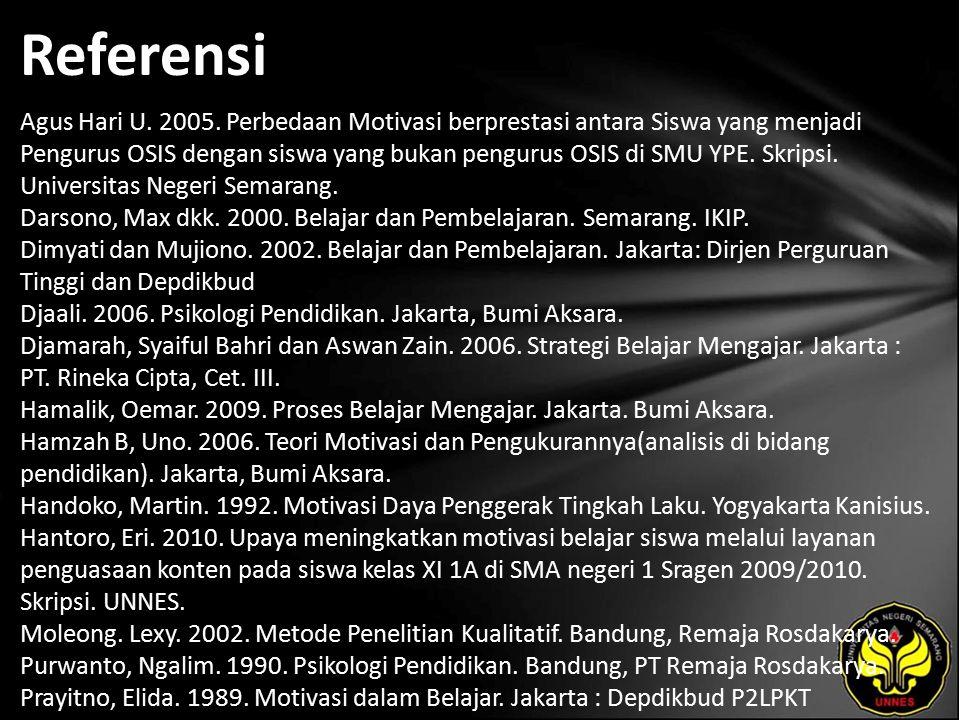 Referensi Agus Hari U. 2005.