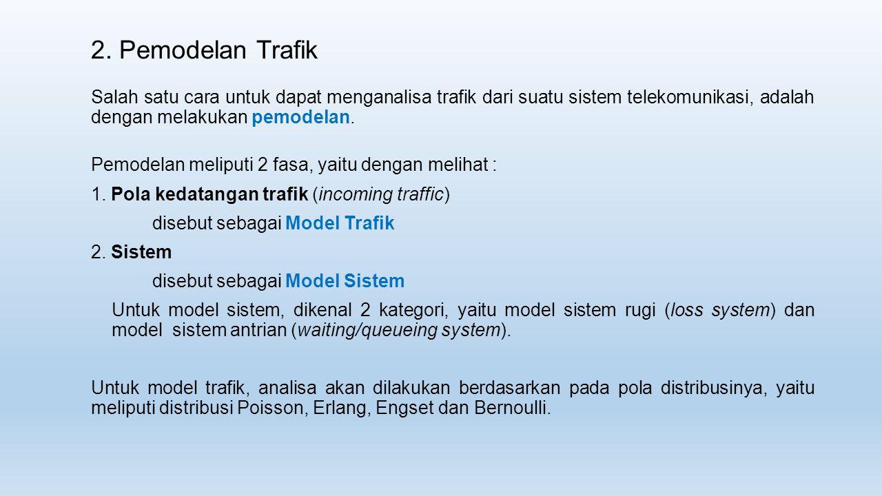2. Pemodelan Trafik Salah satu cara untuk dapat menganalisa trafik dari suatu sistem telekomunikasi, adalah dengan melakukan pemodelan. Pemodelan meli