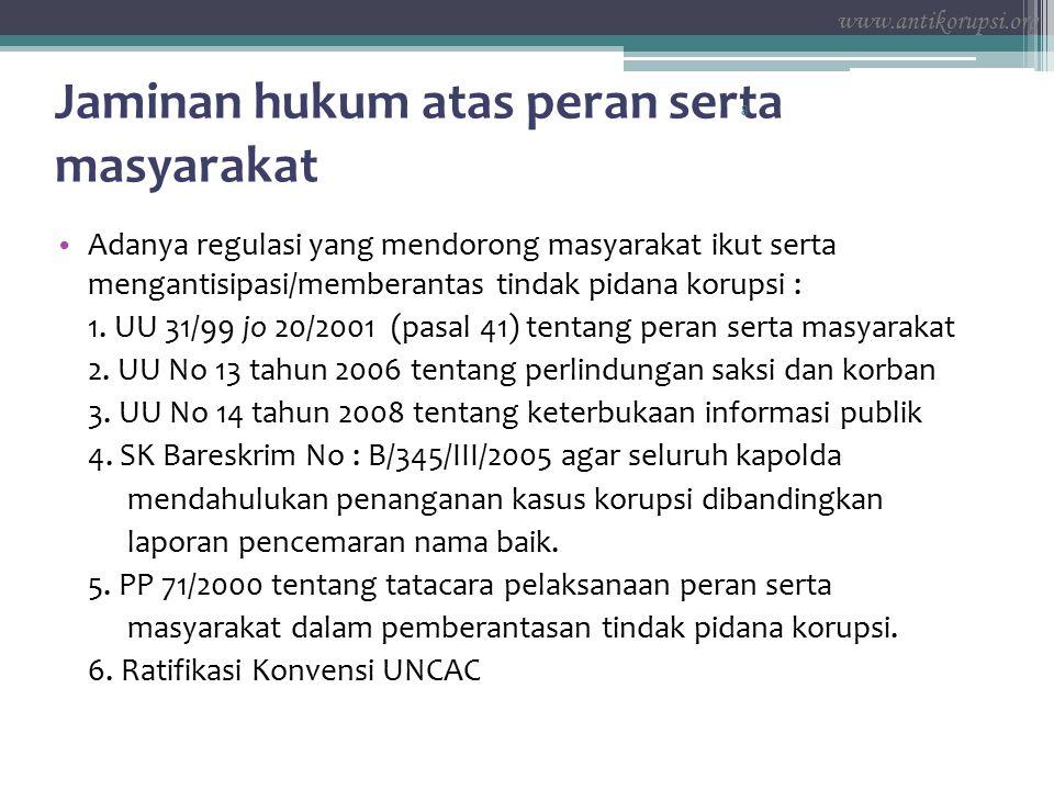 Klasifikasi Korupsi 19 NoKlasifikasi tindak pidana korupsiPasal yang digunakan 1Kerugian keuangan negara Pasal 2 dan pasal 3 2Suap – menyuap Pasal 5 ayat (1) huruf a dan b, Pasal 13, Pasal 5 ayat (2), Pasal 12 huruf a, b, c dan d, Pasal 11, Pasal 6 ayat 1 huruf a dan b, Pasal 6 ayat 2 3Penggelapan dalam jabatan Pasal 8, Pasal 9, Pasal 10 huruf a, b dan c 4Pemerasan Pasal 12 huruf e, g dan f 5Perbuatan curang Pasal 7 ayat 1 huruf a, b, c dan d, Pasal 7 ayat 2, pasal 12 huruf h 6 Benturan kepentingan dalam pengadaan Pasal 12 huruf i 7Gratifikasi Pasal 12 B jo.